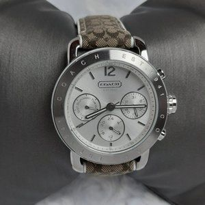 Coach Signature Strap Chronograph Watch